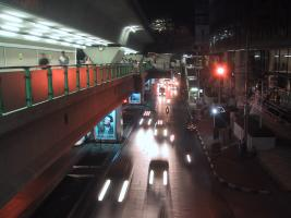 Traffic on Sukhumvit Road.
