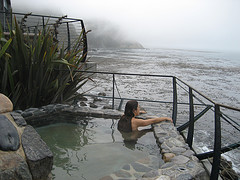 Woman at Hot Spring