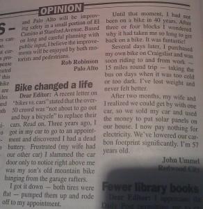 """Bike changed a life"""