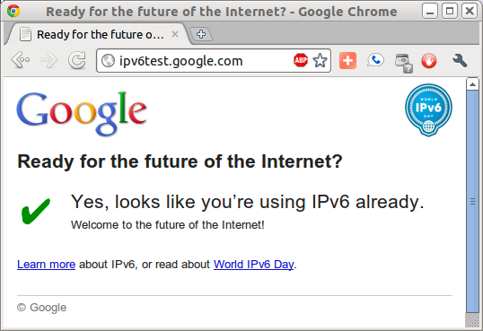 Yes, it looks like you're using IPv6 already.