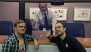Our Frenchman flew over to San Jose from London, and wanted a picture with our American colleague in Tokyo.