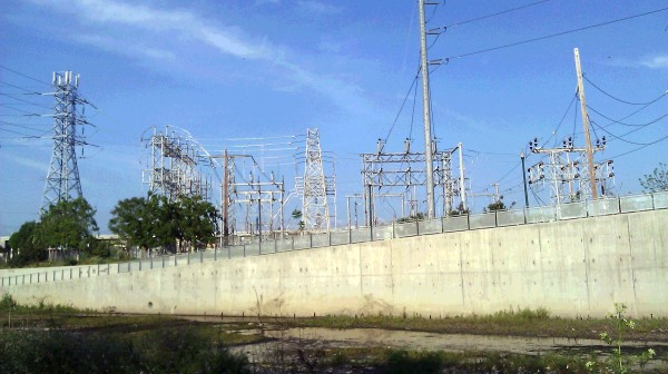 Concrete and Electricity along a Canal