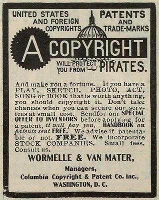 A Copyright Will Protect You From Pirates!  CC: WikiPedia