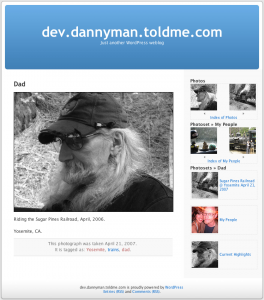 A test view of a plugin I once wrote to view Flickr photos on a WordPress site.