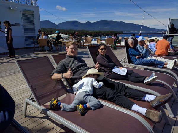After the rigors of Ketchikan, Tommy is spent.