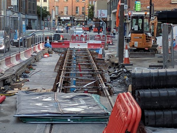 In Dublin, I saw them building a light rail line, right down an ancient street. It made the Northern Californian in me jealous.